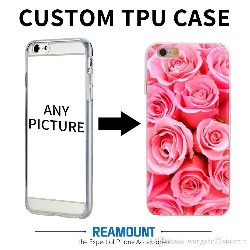 New Design DIY Custom Art Print Case Add Private Logo Photo Picture for iphone 6 6plus Soft TPU Transparent Custom Made Mobile Phone Case