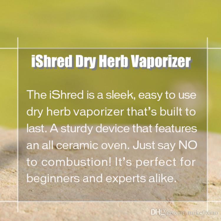 Auténtico Yocan iShred Dry Herb Vaporizador Kit 2600mAh Cámara de cerámica Molinillo de hierbas incorporado Pantalla LCD vape pluma vapor e cigs Kits