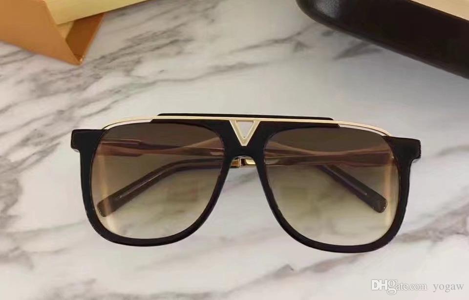 Männer Shades Sonnenbrillen Schwarz Mode Fall Millionär Gold Neuer Beweismittel 0937 Sonnenbrille mit Tigub