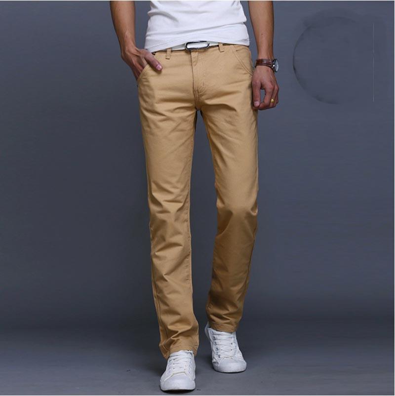 Toptan-2016 SıCAK PAMUK Düz Rahat pantolon Erkekler marka moda Pantolon Pantolon erkek Artı büyük Boy kargo pantolon pantalon homme hombre