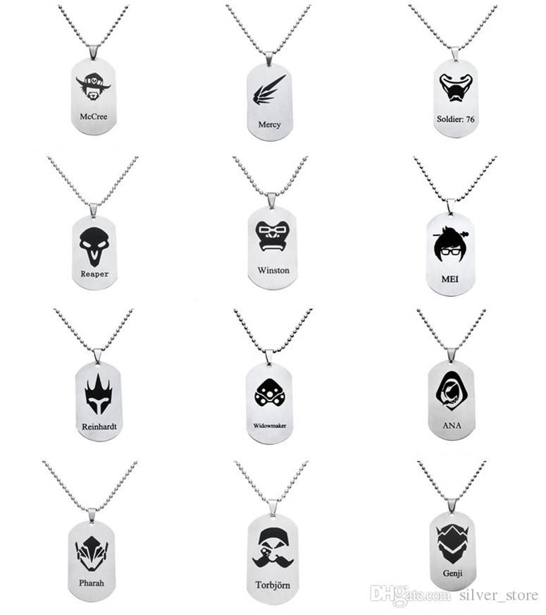 Hot Game Watchman Pioneer Necklace 22 Full Hero logo Pendant necklace WFN034 (with chain) mix order 20 pieces a lot