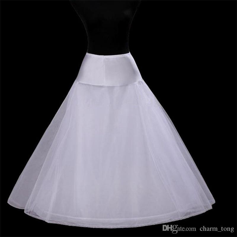 2017 Nouveaux jupons blancs 1-hoop Livraison gratuite robe de mariée A-ligne robe jupon formelle accessoires de mariage crinoline