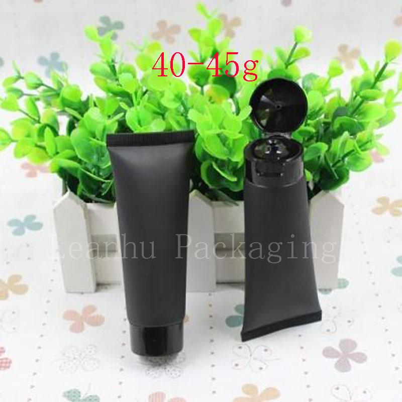 45g Empty Black Soft Tube For Cosmetics Packaging,Sample 45ML Lotion Cream Plastic Bottles , Unguent Containers Tube squeeze