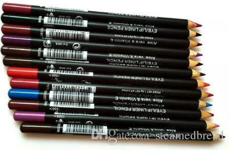FRETE GRÁTIS QUENTE boa qualidade Menor Best-Seller boa venda Mais Recente EyeLiner Lipliner Lápis Doze cores diferentes + presente