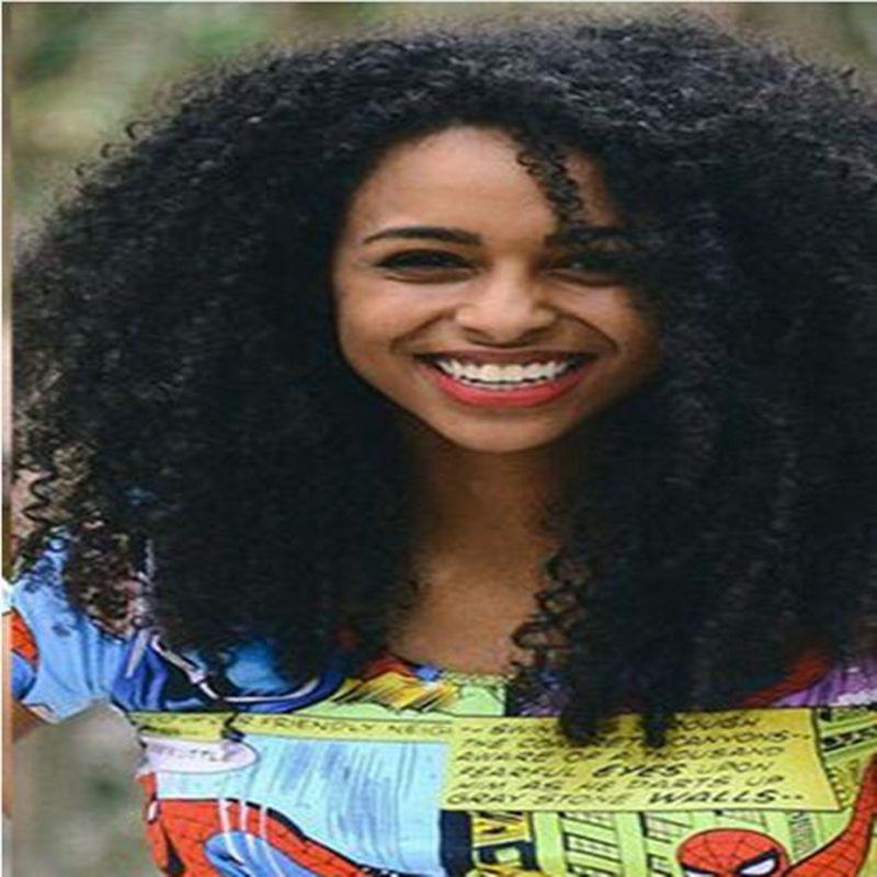 Nouveau Arrivant de qualité supérieure africaine Ameri cheveux brazilian Simulation humaine cheveux crépus bouclés Perruques en stock pour dames