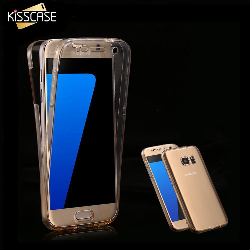 삼성 갤럭시 S7 S6 케이스 용 투명한 360 보호용 전화 커버