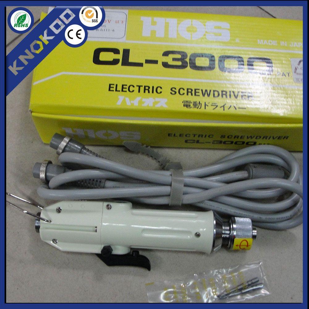 Tournevis de précision HIOS CL-3000 avec le fournisseur d'alimentation CLT-50, tournevis électronique de haute qualité (bit H4), 0,3-2 kfg.cm