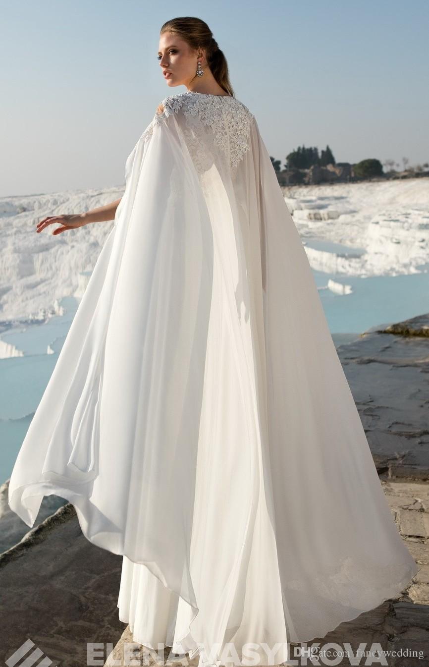 Großhandel Spitze Chiffon 2017 Strand Hochzeits Kleider V Ansatz A ...