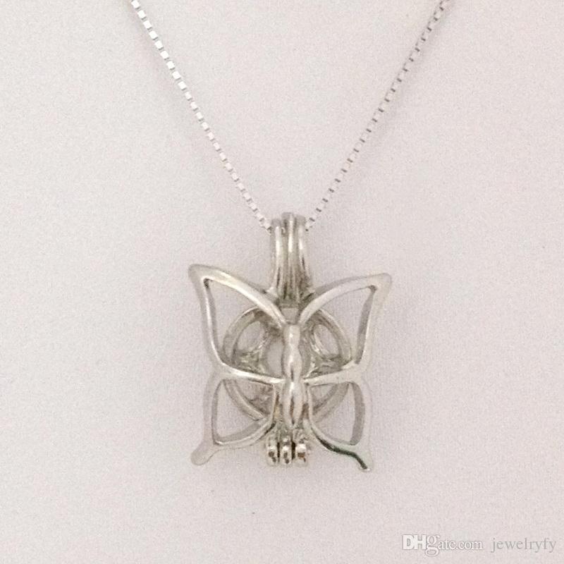 Może otworzyć Hold Pearl Koraliki Klepki Medalion Klatka Motyl Styl Urok Wisiorek Montaż Dla DIY Bransoletka Naszyjnik Biżuteria
