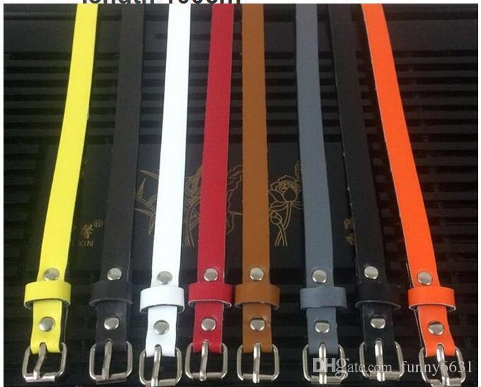 Été vente chaude boucle lisse hommes boucle boucle de ceinture en cuir synthétique pu pantalon 8 couleurs femme mode mince ceinture en cuir livraison gratuite