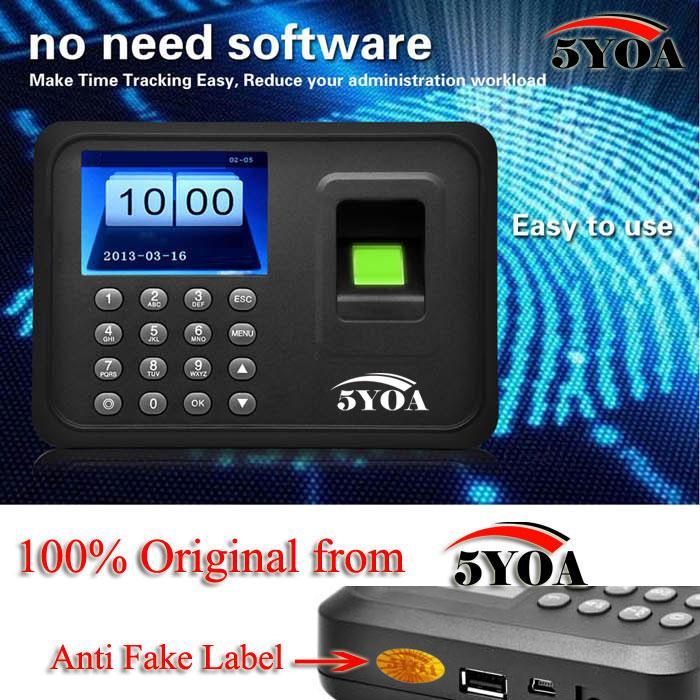 Biometrische Fingerprint Zeiterfassung Uhr Recorder Mitarbeiter Digital Elektronische Englisch Portugiesisch Stimme Reader Maschine 5YA01