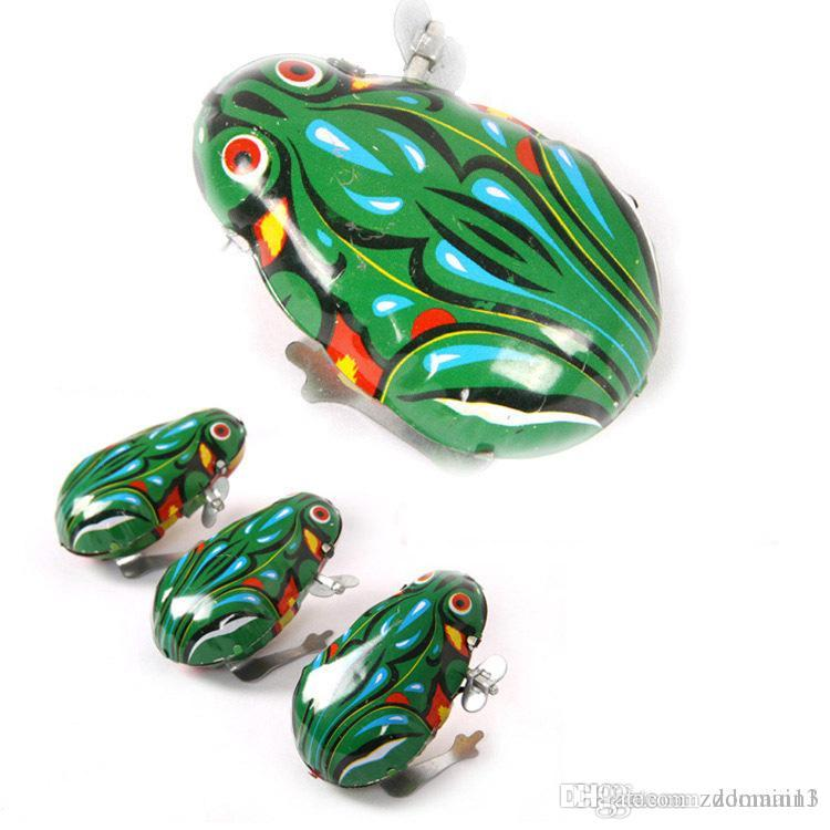 High Quality Modern Wind Up Jumping Frog Iron Clockwork Hopping Toys Collectible Classic Kids Gift for Easter