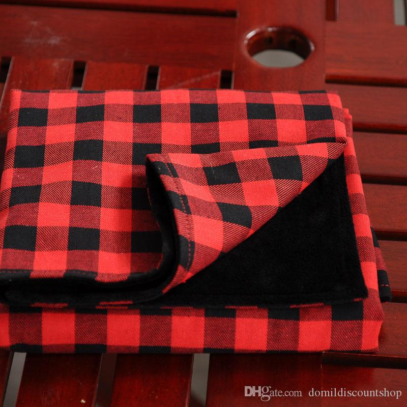 Red Plaid Christmas Baby Blankets With Soft Minky Fabric 70 90 Cm Flannel  Material Cotton Comfortable Blanket DOM103729 Biederlack Fleece Blankets ... 519ccd0a9