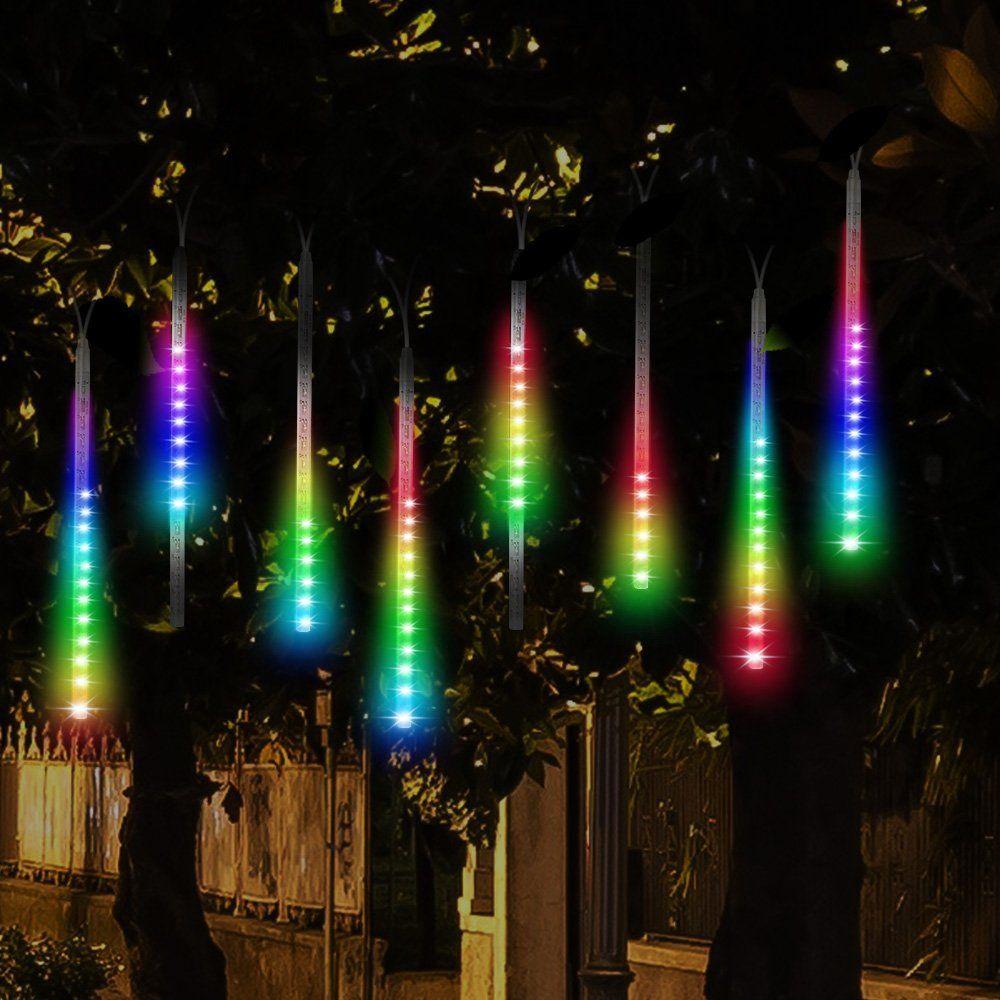 LED Meteor Shower Rain Lights,Drop Icicle Snow Falling Raindrop 30cm 8 Tubes Waterproof Cascading lights for Wedding Xmas Home Decor