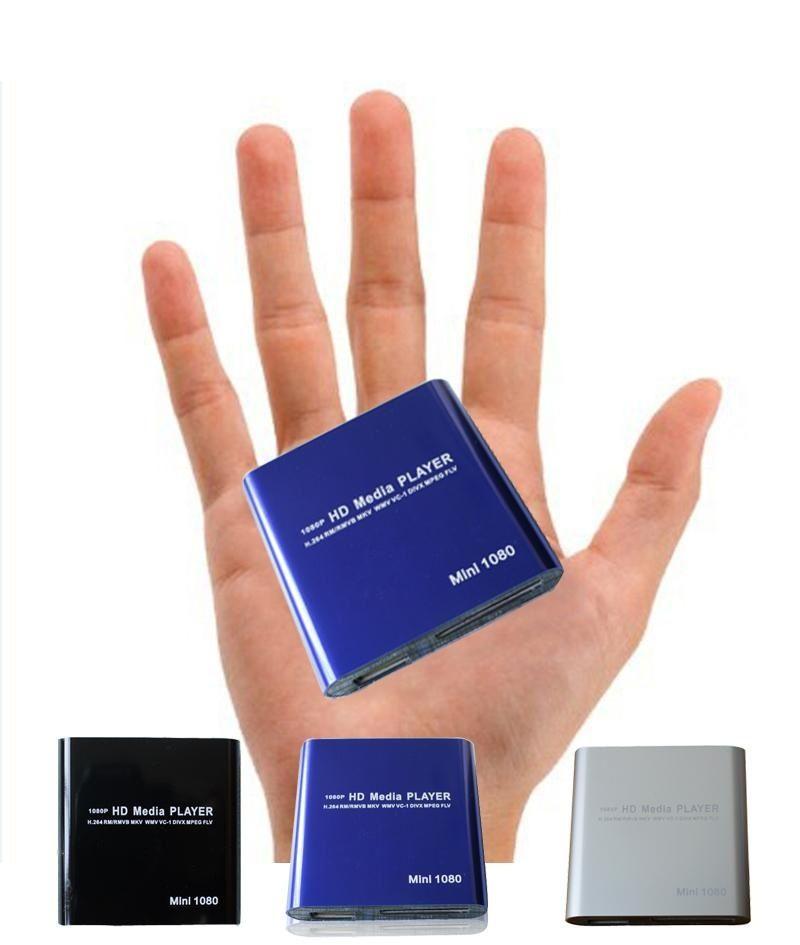 1080P Mini Media Player MKV H.264 RMVB Full HD with HOST Card Reader AVI DIVX MKV MOV HDMOV MP4 M4V PMP AVC FLV VOB MPG DAT MPEG TS TP M2TS