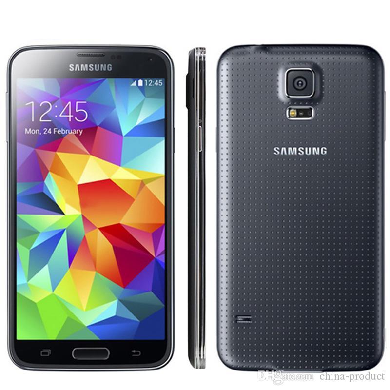 "Ursprüngliches freigesetztes Samsung Galaxy S5 i9600 Handy 5,1 ""Quad Core 16 GB ROM NFC G900A G900T G900F Smartphone"