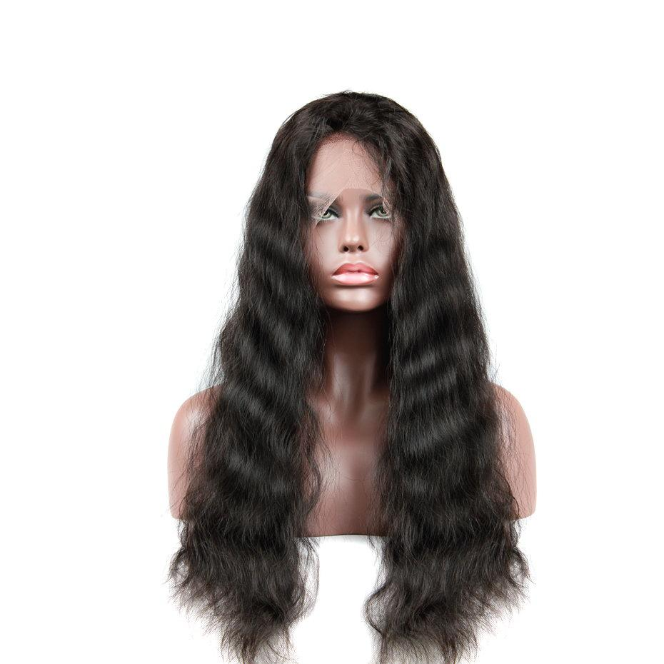 Human Hair Wigs Uglam Body Wave Brazilian Virgin Hair Wigs With Hairline Human Hair Lace Front Wigs Unprocessed Free Shipping Density 150%