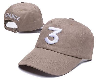 0c590fcff3afb2 Hip hop Black Khaki Popular CHANCE the rapper 3 Dad Hat Letter Embroidery  Baseball Cap Hip