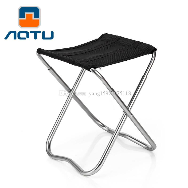 Lightweight Folding Fishing Chairs Aluminum Alloy Square Sketchbook Outdoor Chair Camping Stool For Picnic BBQ Beach Chair 157