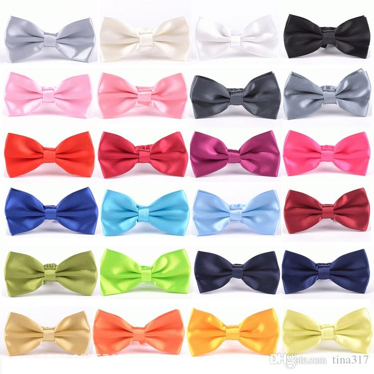 Hot Selling bow tie Fashion Necktie bow tie Men's ties Colored Silk Neck Ties New Arrival C003-2