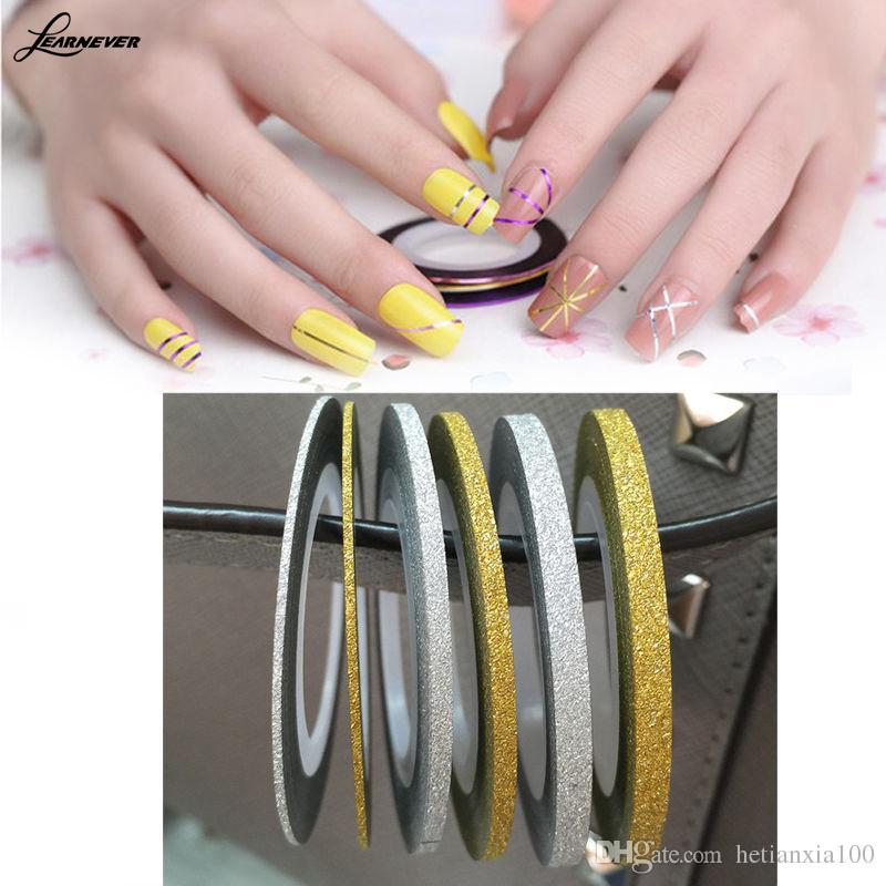 1Pcs prego Striping rolo de fita Linha etiqueta Nail Art Manicure dicas DIY Decoração