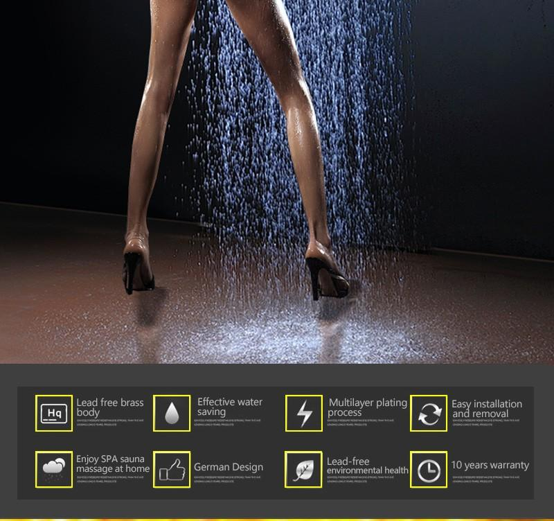 hm LED Rain Shower Set with 2 Lights with Handshower Body Jet Massage Thermostatic Mixer Bathroom Ceiling (2)