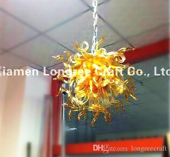 Lampade a soffitto Bocca 110 V / 120V LED BULBING BULBING INCREDIBILE Bella casa Lampadario a mano in vetro soffiato a mano in vetro soffiato
