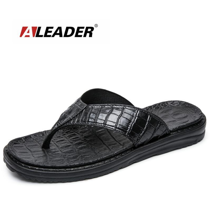 Aleader New 2017 estremamente morbide infradito da uomo Sandali da spiaggia per uomo di alta qualità Eva Pantofole estate uomo scarpe da massaggio