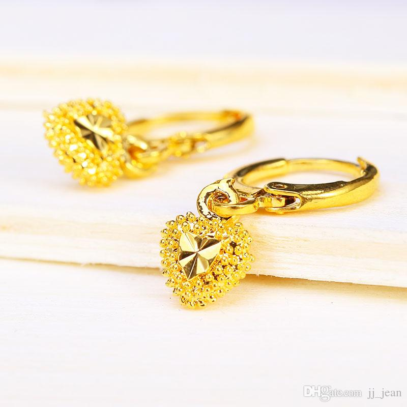 2019 24k Gold Plated Hoop Earrings Brand New Design Beautiful For