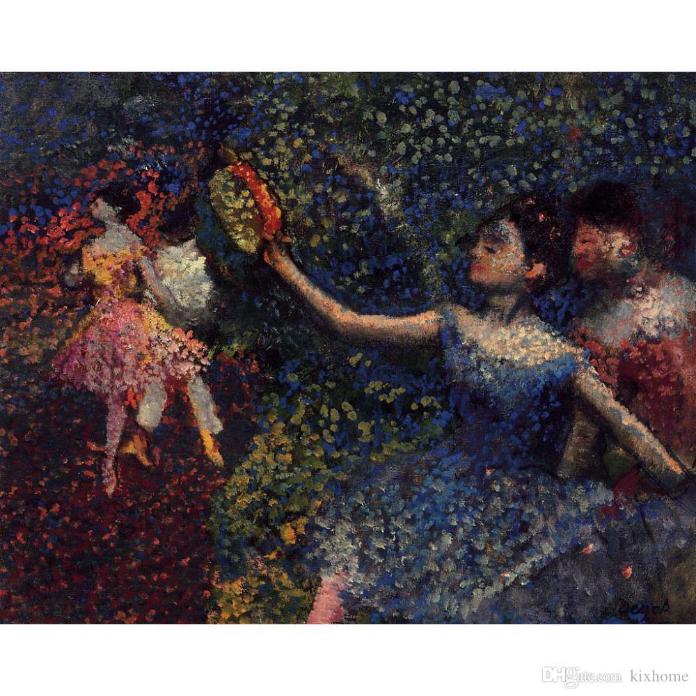 Handmade oil painting Edgar Degas Dancer and Tambourine modern art for bedroom decor