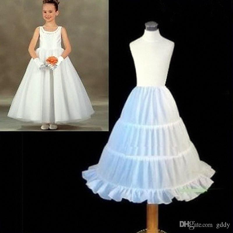 New Três Círculo Hoop Crianças Kid Dress deslizamento Bola Branca vestido vestido da menina flor Wedding Acessórios Petticoat