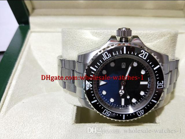 Venta al por mayor - Lujo Perpetual 116660 116660 D-Blue Caja original Reloj para hombre Relojes para hombres Nuevo 44mm azul negro esfera Cerámica bisel Inoxidable