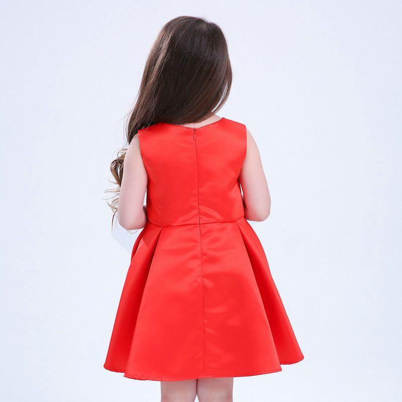 90d8e3e44 Compre Vestido Bordado Para Niñas Bordado Una Línea De Cuello Barco Sin  Mangas Estilo Chino Vestido Para Niños De Verano Ropa A $115.87 Del ...