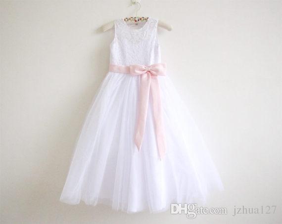 Wonderbaar Real Photo New Lace Flower Girls Dresses Vestidos De Primera DS-74