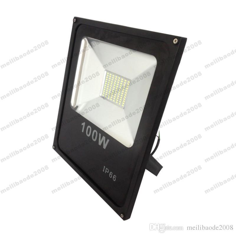 2017 NUEVA 100W IP66 LED SMD Super Slim Impermeable LED de luz de inundación Proyectores envío gratis MYY