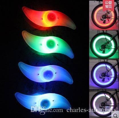 1USD الصمام فلاش الاطارات ضوء دراجة عجلة صمام كاب ضوء سيارة دراجة دراجة نارية دراجة نارية أدى عجلة الاطارات مصباح أدى ضوء السيارة 9 ألوان أعلى