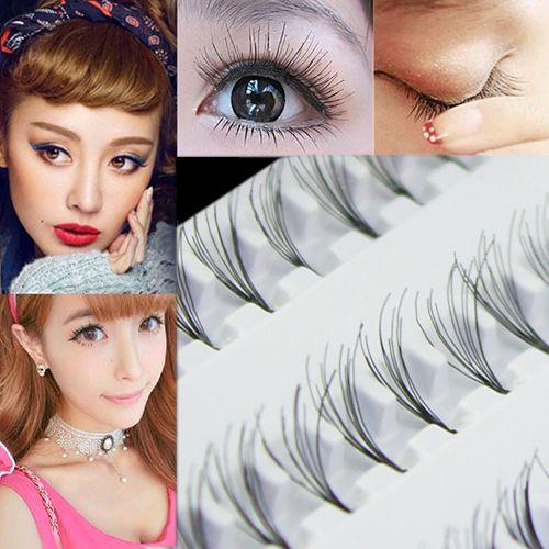Wholesale Women Makeup Black 8 10 12mm False Eyelash Cluster Diy Eye Lashes Extension Best Eyelash Glue Eye Lash Extensions From Sophine07 18 48