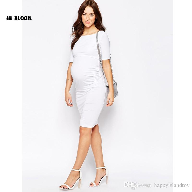 2021 New Year Maternity Clothes Elegant Evening Dresses For Pregnant Women Loose Pregnancy Vestidos Maternity White Party Prom Dress Hot From Happyislandtoy 42 22 Dhgate Com