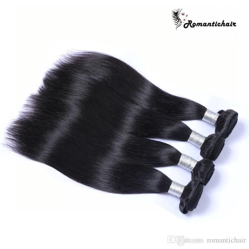 100 ٪ عذراء الشعر البرازيلي الإنسان الشعر ينسج بيرو الماليزية الهندية الكمبودية المنغولية مستقيم الشعر حزم أفضل جودة