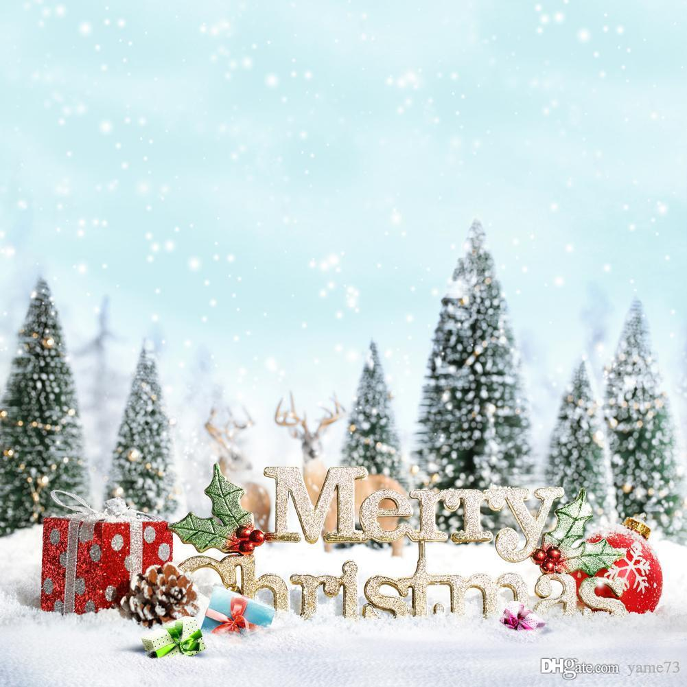 Christmas Tree White Background.2019 5x7ft Vinyl Digital White Christmas Tree Gifts Letter Photography Studio Backdrop Background From Yame73 Price Dhgate Com