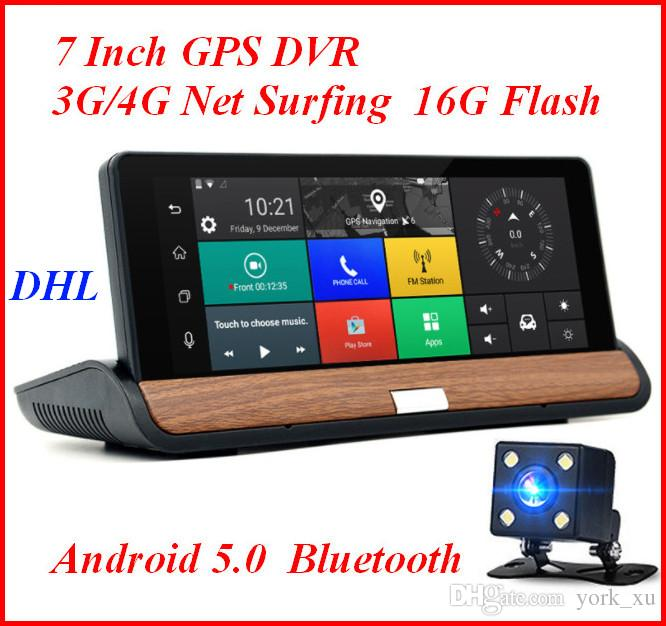 3G 7 inch Car GPS Navigation Bluetooth Android 5.0 Navigators Automobile with DVR FHD 1080 Vehicle gps sat nav Free maps ATP108