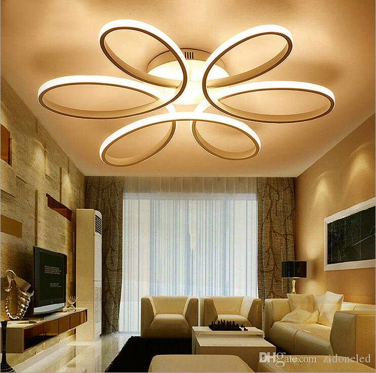 Modern Minimalism LED Ceiling Chandelier Aluminum Modern Flower Led Ceiling  Lamp Fixture For Living Study Room Bedroom Hanging Lamps For Bedroom ...