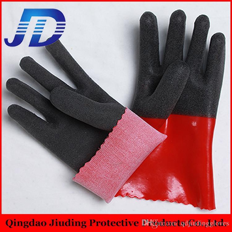 Оптовая перчатка машина сделано в Китае, ПВХ покрытием пены тяжелой промышленности безопасности рабочие перчатки с бесплатными образцами из Китая поставщик