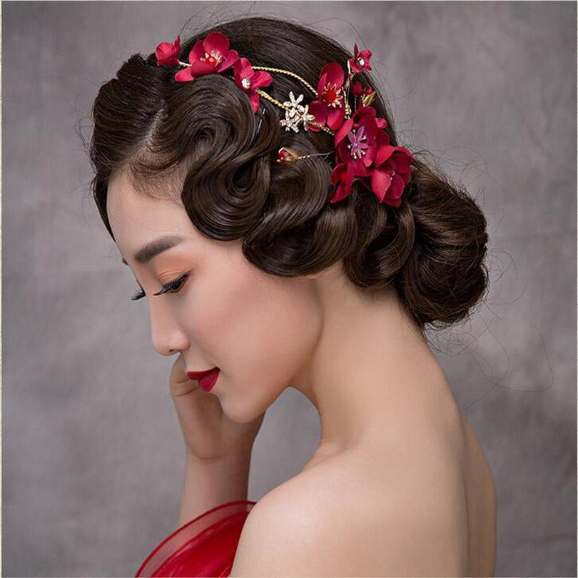 Pakistani Bridal Hairstyles Gold Leaves Butterfly Wedding Hair