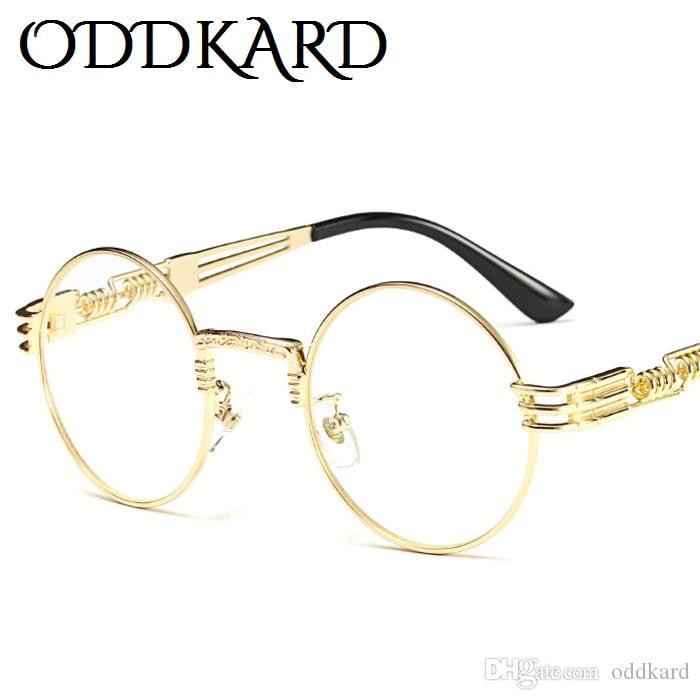 Oddkard خمر steampunk نظارات للرجال والنساء العلامة التجارية مصمم جولة أزياء النظارات oculos دي سول uv400