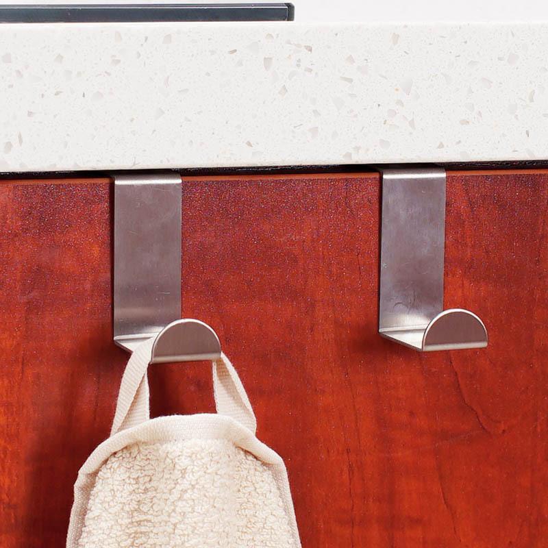 Toptan-3 ADET Paslanmaz Çelik Öz Ev Mutfak Duvar Kapı Tutucu Kanca Askı Asılı Ceket Kanca Ücretsiz Nakliye