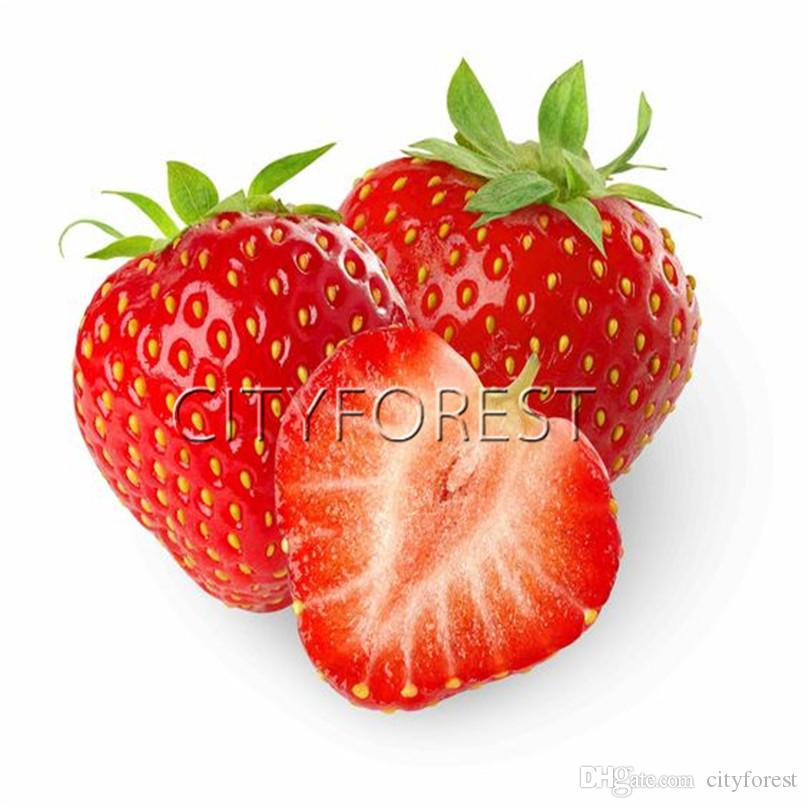 Red Strawberrry Fruit Seeds 200Pcs / Bag Yummy Aromatic Juicy Sweet Fast & Easy to Grow DIY Home Garden Heirloom Pot Borders Fruit