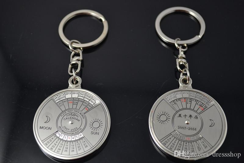 English calendar keychain creative men keychain ring cheap wholesale small gift