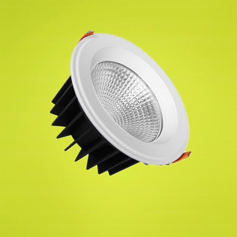 Vente en gros - - Dimmable 15W Blanc froid / chaud LED blanc encastré lampes Cabinet plafond Downlight AC85-265V Pour Éclairage Decora