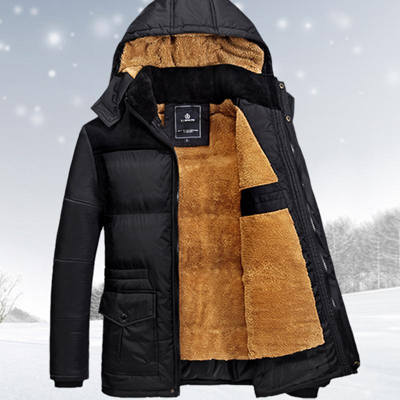 Taille M-5XL veste d'hiver hommes hommes manteau hiver marque homme vêtements casacos masculino épais manteau d'hiver